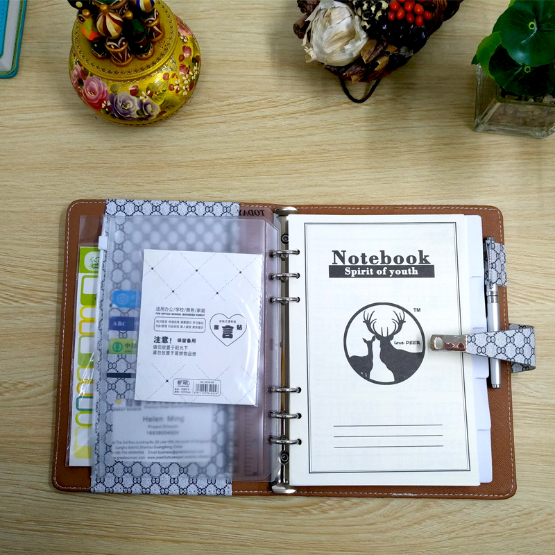 Office & School Supp. ... Filing Products ... 32537105532 ... 4 ... Padfolio Conference Fefillable Folder Clear Pen Bag Color Stickers Fashion Design 6 Rings Binder Notebook 2020 Calendar ...