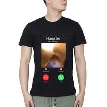 Dank meme hamster wpatrujący przedni aparat chomik cal t-shirty do ćwiczeń mężczyźni T Shirt darmowa wysyłka męskie koszulki