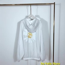 Peaceminusone trench coats Oversize 2020 Men Women Fragment Daisy lightning Logo
