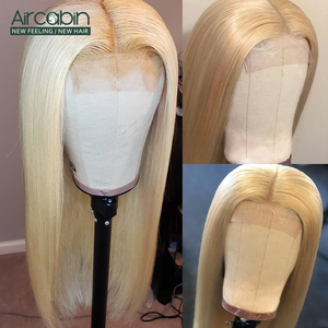 Image 3 - Aircabin 32 30 Inch Straight Lace Front Wigs 613 Blonde Color Brazilian Human Hair Lace Closur Wigs For Women Remy Hair Wigs