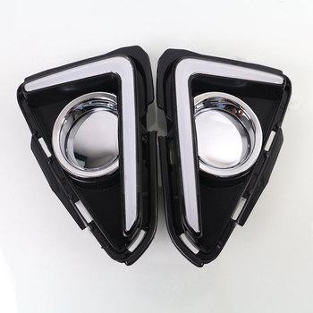 DRL for Toyota RAV4 2016 2017 Daytime Running Light Left and Right White DRL / Amber Turning Signal Light Fog Light with Relay