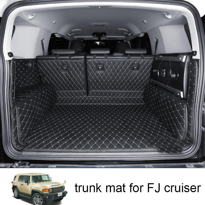Lsrtw2017 Leather Car Trunk Mat Cargo Liner For Toyota FJ Cruiser 2008 2009 2010 2011 2012 2013 2014 2015 2016 2017 2018 2019