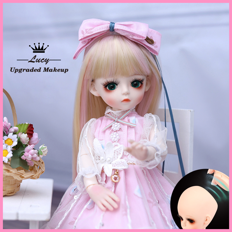 UCanaan BJD Doll 1/6 SD Doll 18 Ball Jointed Dolls With Full Outfits Dress Wig Headdress Shoes Makeup Girls DIY Dress UP Toys 7