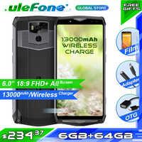 "Ulefone Power 5 6,0 ""FHD 4G Smartphone MTK6763 Octa Core Face ID Android 8,1 6 GB + 64 GB 21MP 13000 mAh cargador inalámbrico Fingprint"