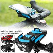 4in1Bicycle Phone Holder Multi-function Bike light Upgraded  with 4000mAh Power BankLED Bike Head Lamp 3 Led Cycling Front Light lucky bag with zanflare b3 3 led bike light