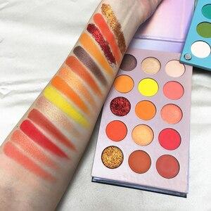 Красота глазурованная Новое поступление 4 в 1 цветная палитра теней для век 60 цветов s неоновый желтый пигмент для глаз матовые блестящие тени для век