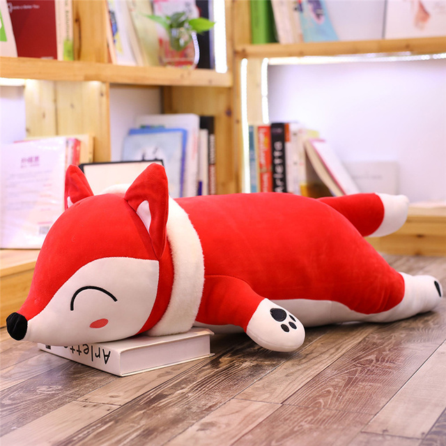 35-90CM Kawaii Fox Dolls Stuffed Animals Plush Toys for Girls Children Boys Toys Plush Pillow Fox Stuffed Soft Animals Gift
