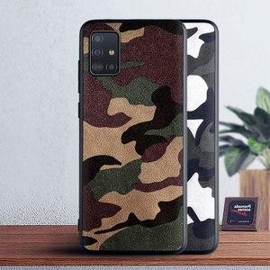 Камуфляжный кожаный чехол для Samsung galaxy A71 A51 A70 A70S A50 A50S A40 A40S A30 A30S A20 A10 A9 A8 Plus Star A7 A6 A5 20182017