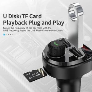 Image 5 - KUULAA Caricabatteria Da Auto Trasmettitore FM Per Auto Bluetooth Audio MP3 Lettore Carta di TF Car Kit 3.4A Doppio Dellautomobile del USB Caricatore Del Telefono per Xiaomi Mi