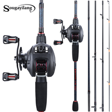 Sougayilang Fishing 1 8-2 4m Rod Combo Portable 5 Section Carbon Fishing Rod and 6 3 1 Gear Ratio12+1bb Casting Reel Set cheap Baitcasting Rod+Reel Stainless Steel 2 4 m Ocean Boat Fishing Lure Rod Other 6-18lb 7-28g 1 8m 1 98m 2 1m 2 4m 115g 125g 130g 135g