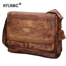 Business Casual Leather Laptop Bag Men's Briefcase Men Shoulder Bag