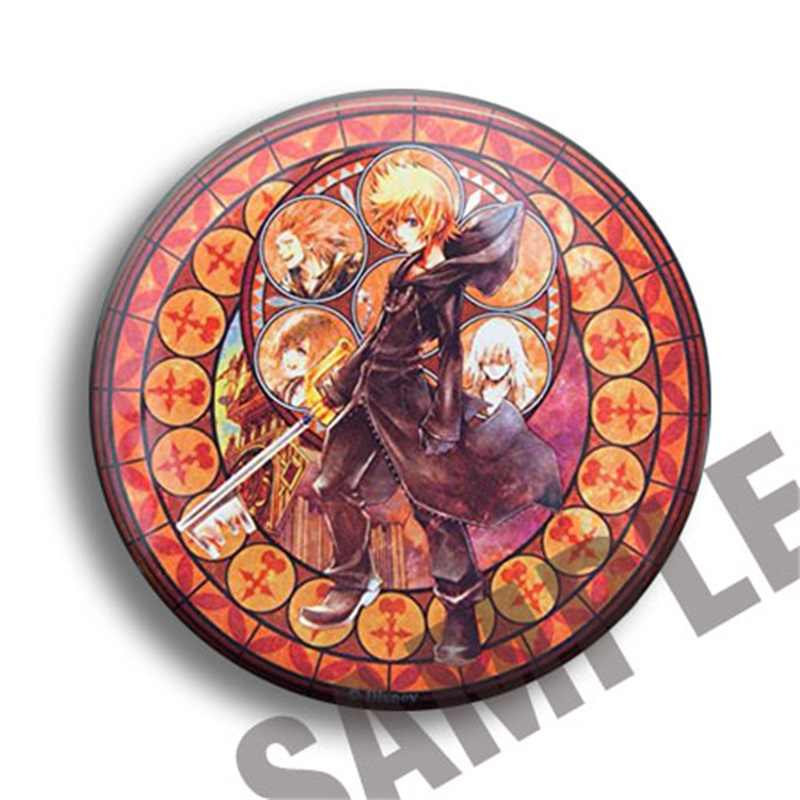 Japan Anime Kingdom Hearts Sora Riku Axel Ventus Aqua Cosplay Garnet Mengumpulkan Tas Lencana untuk Ransel Tombol Bros Pin Hadiah