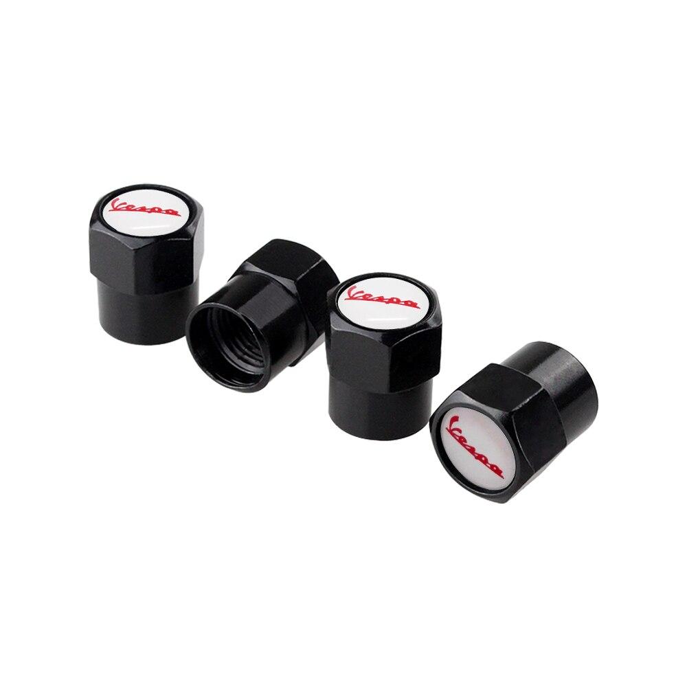 4 Pcs Car Decor Accessories For Vespa Logo Wheel Valve Stems Caps Tire Parts For Vespa Piaggio Beverly Primavera 946 Gts 300