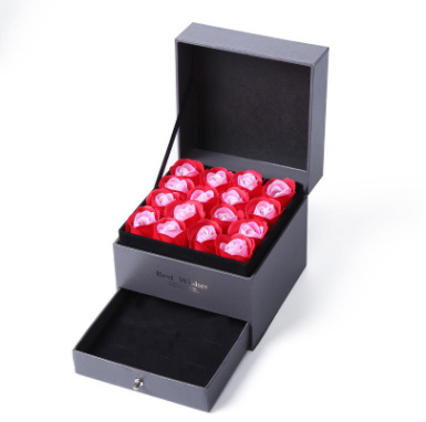 8 Color New Eternal Rose Jewelry Box Necklace Earrings Bracelet Storage Styling Gift Packaging Show Classic 1