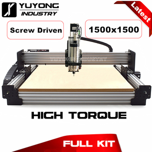Image 1 - 스크류 구동 1515 최신 V2.3 Tingle Tensioning WorkBee CNC Complete Kit 기계 목재 금속 조각기 밀링 머신