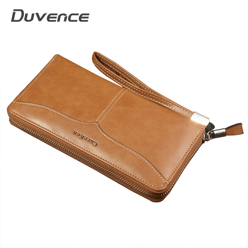 Long PU Leather Men Wallet Business Casual Clutch Male Wallet Fashion Coin Pocket Purse For Men Large Capacity Purse Man Wallets
