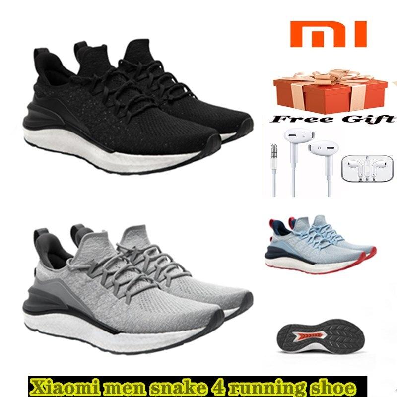 Xiaomi профессиональная углеродная доска Мужская Спортивная обувь змея 4-я мужская легкая дышащая 4D Летающая тканая моющаяся верхняя часть