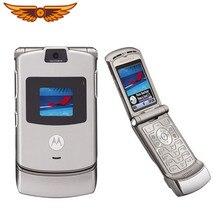 V3 Original Motorola Razr V3 GSM quadri-bande débloqué vieux téléphone portable utilisé