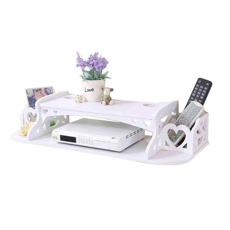 Strona główna TV Top Box Router organizator stojaków PC odtwarzacz DVD przestrzeń bezprzewodowy Router wi-fi uchwyt schowek uchwyt półki wieszak stojący