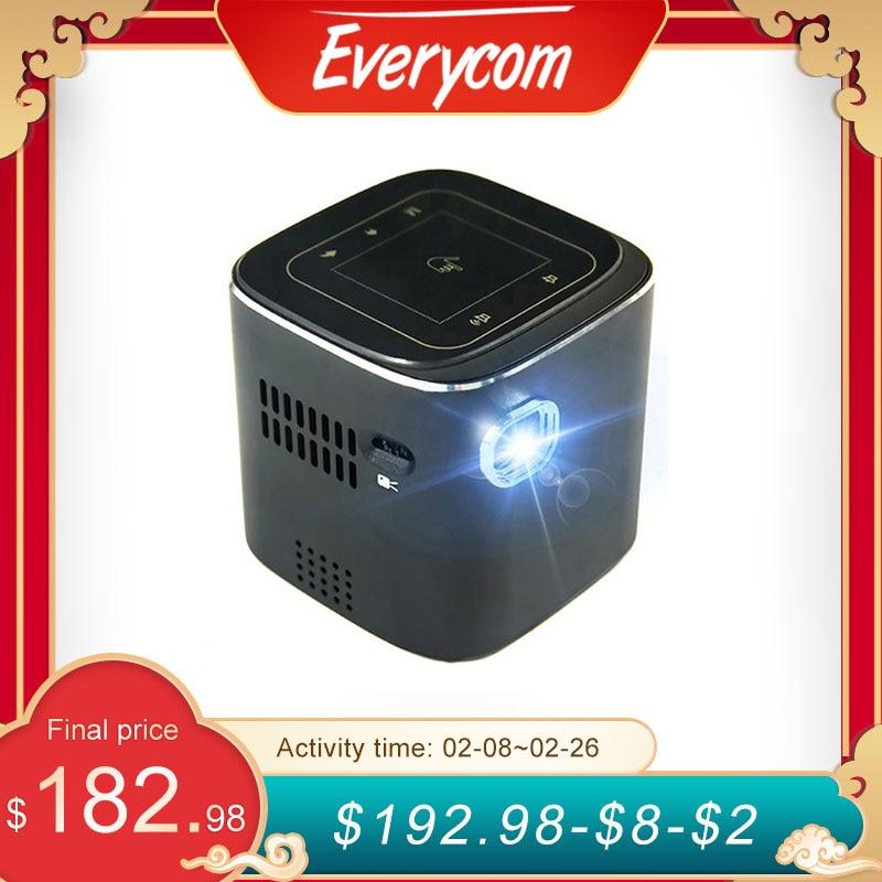 Everycome d019 mini projetor suporte completo hd 1920x1080 p dlp portátil android 7.1.2 os wifi bluetooth led bateria casa beamer,Este é um código de desconto 99 menos 15:DISC15