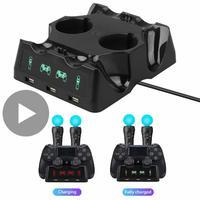 Control Ladegerät Spiel für Sony PS4 VR Bewegen Motion Controller Playstation Spielen Station PS 4 Lade Dock Docking von Basis unterstützung