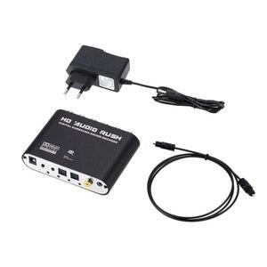 Цифровой аналоговый 5,1 канальный стерео конвертер оптический SPDIF коаксиальный AUX 3,5 мм звуковой декодер усилитель-штепсельная вилка ЕС