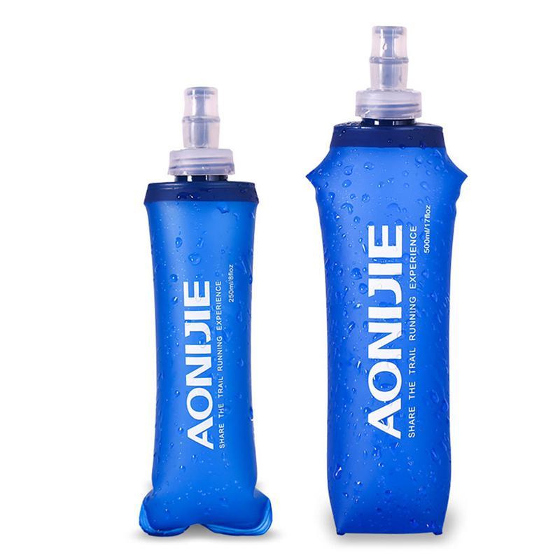 250ML/500ML Soft TPU Foldable Sports Water Bottle For Running Camping Hiking BPA & PVC Free Water Bag
