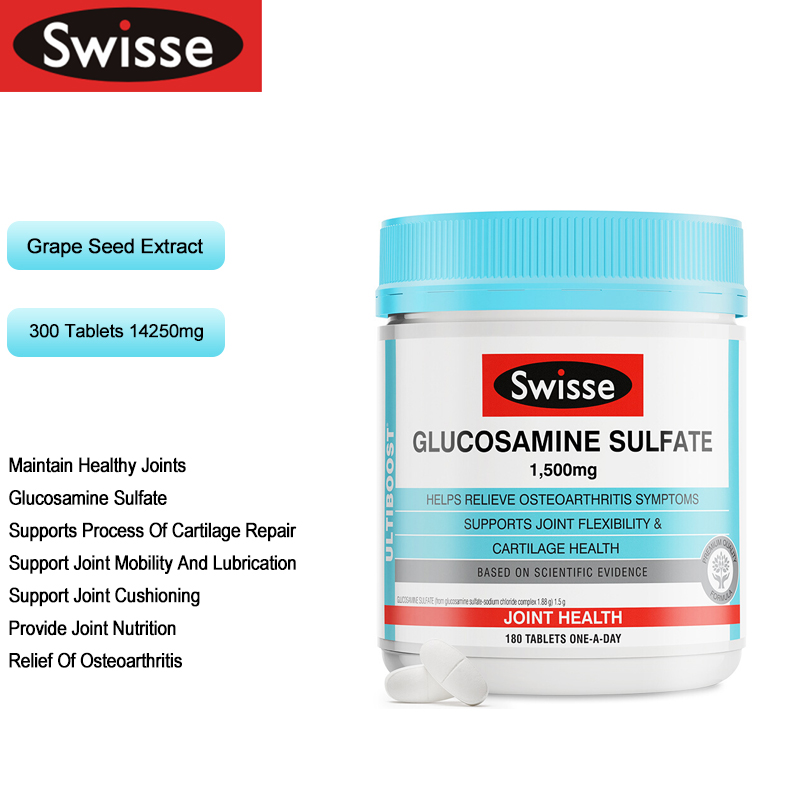 Swisse Joint Care Glucosamine Sulfate Capsules Healthy Joint Mobility Cushioning Lubrication Cartilage Repair Osteoarthritis