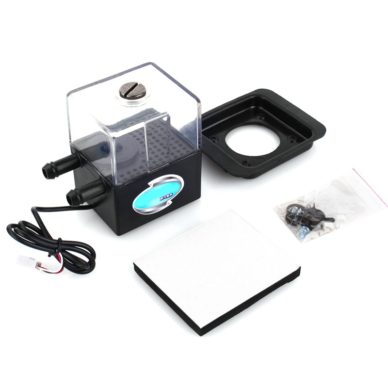 Ultra-Quiet Water Pump & Pump Tank For PC CPU Liquid Cooling Computer System SC-300T 12V DC Car Accessories