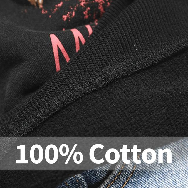 Black Tiger Head Graphic Boho Sweatshirt Women Autumn Winter Long Sleeve O Neck 100% Cotton Pullover Casual Vintage Hoodies 2020 5