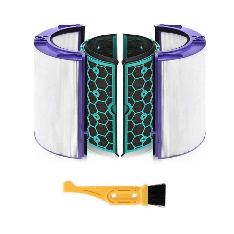 HEPA Filter Activated Carbon Filter for Dyson HP04 TP04 DP04 Air Purifier Sealed Two Stage 360° Filter System|Vacuum Cleaner Parts| |  - title=