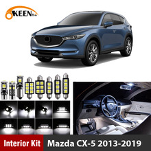 11pcs White Canbus led Bulbs Car Interior Lights Kit for Mazda CX-5 CX5 2013 2014 2015 2016 2017 2018 2019 Led Interior Lights oem fog lights halogen lamp kit for 2014 2015 2016 mazda cx 5 cx 5 ka0h v4 600