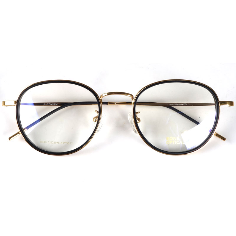 Oversized vintage spectacles eyeglasses frames Japan for myopia/reading|Men