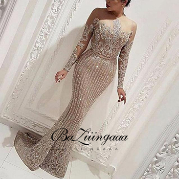 BAZIIINGAAA New Elegant Woman Evening Gown Plus Size Slim Printed Long Evening Dress Suitable for Formal Parties