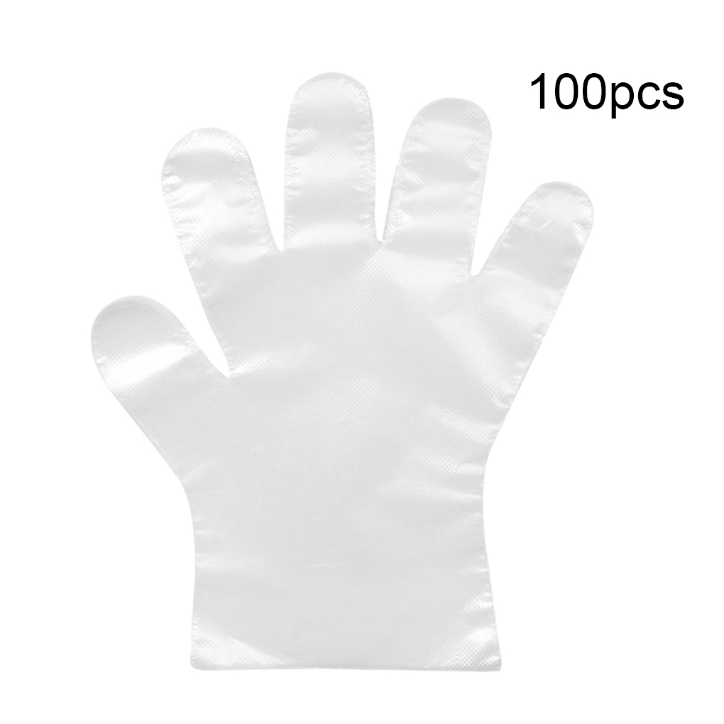 100 Pcs/bag Kids Disposable Clear Gloves PE Transparent Sanitary Single Use Non-slip Gloves For Restaurant School