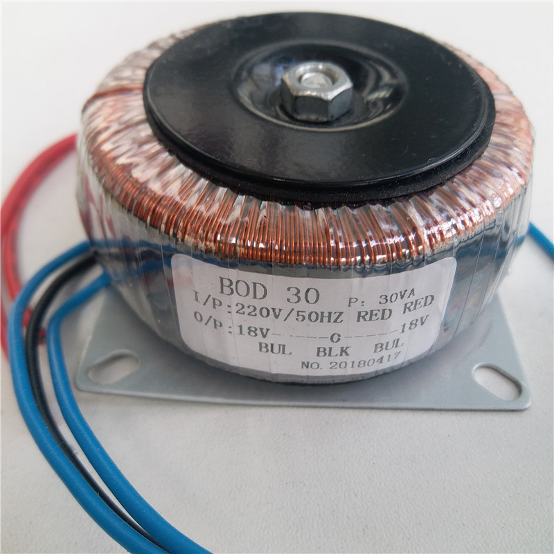 Dual 12V 15V 18V 24V 15V-12V-0-12V-15V 12V-0-12V 15V-0-15V 220V copper custom toroidal transformer <font><b>30VA</b></font> power supply image