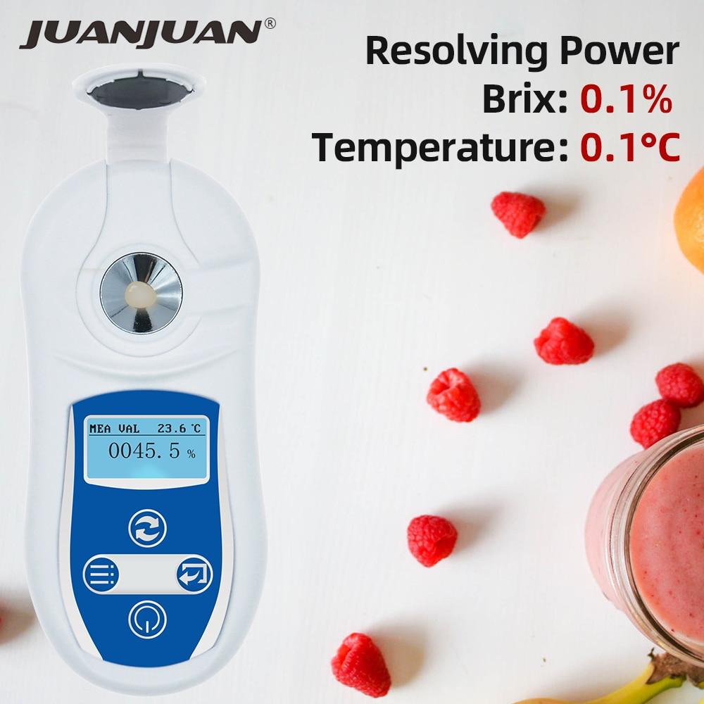 0 53%/0.1% Digital Brix Refractometer Juice Honey Tester Fluid Brix Refractometer Juice Sugar Content Measure Instrument 40%OFF|Refractometers| |  - title=