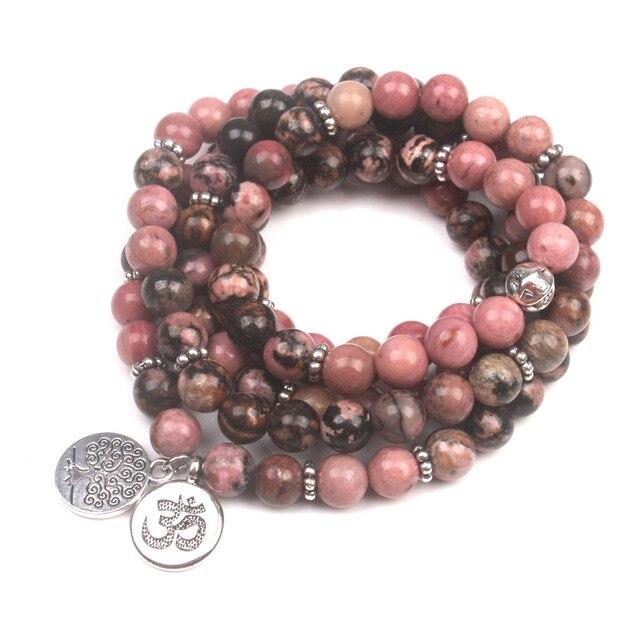 Bracelet Femme Rhodonite Luxe