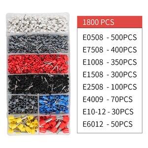 Image 5 - Pince à sertir ensemble multi outils fil câble presse pinces électrique Tube aiguille 1800 pièces bornes boîte outils à main