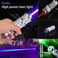 Puissant Super lumineux lumière Visible 200mW haute puissance lampe de poche Signal lampe Laser pointeur Portable argent gravure sculpture