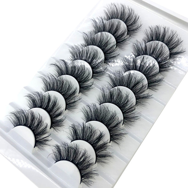 HBZGTLAD New 8 pairs 15-23mm natural 3D false eyelashes fake lashes makeup kit Mink Lashes extension mink eyelashes maquiagem 1