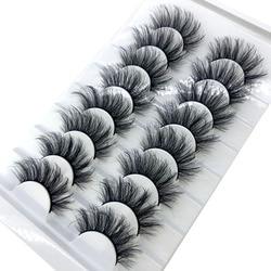 HBZGTLAD New 8 pairs 15-23mm natural 3D false eyelashes fake lashes makeup kit Mink Lashes extension mink eyelashes maquiagem