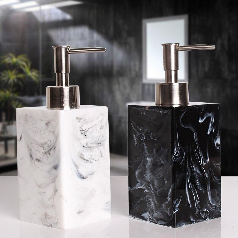 400/500/800ml Creative Resin Dispenser Marble Texture Hand Sanitizer Bottle Hotel Soap Preser Shampoo Shower Gel Empty Bottle