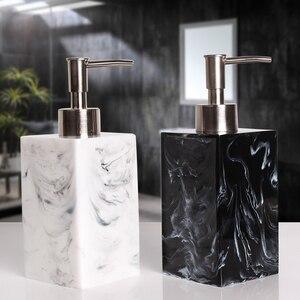 Image 1 - 400/500/800ml Creative Resin Dispenser Marble Texture Hand Sanitizer Bottle Hotel Soap Preser Shampoo Shower Gel Empty Bottle