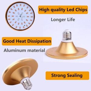 Image 3 - Led büyümek ışık tam spektrumlu bitki ışık Phy lamba E27 lamba büyümeye yol açtı yetiştirme bitkiler için ışık kapalı fidanları su geçirmez 30Led
