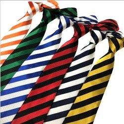 20 stücke männer krawatte ascot stripes krawatten kleid shirt männer krawatten halsband gelb krawatte für männer