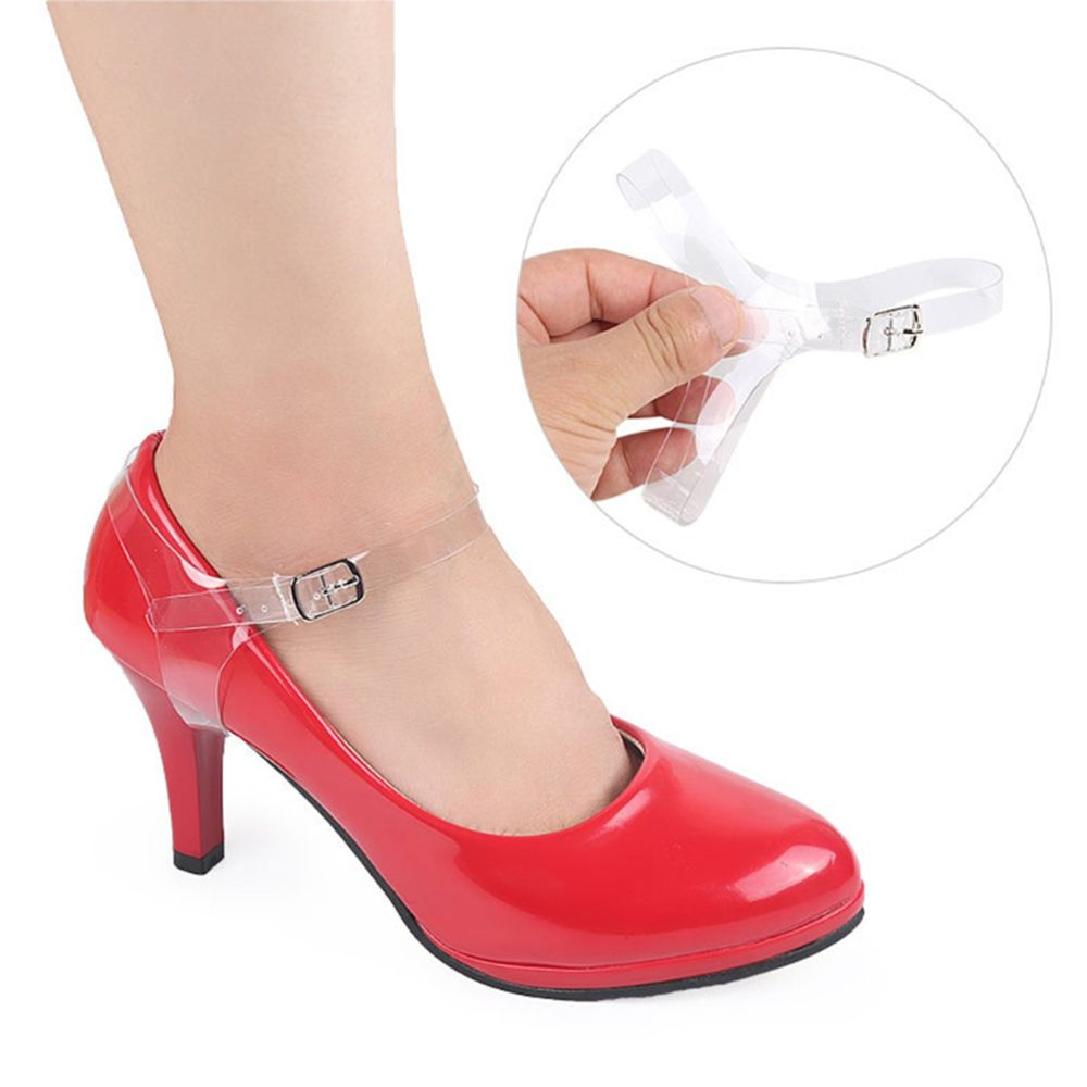 Hot 2019 New Fashion Design High Quality 2pcs Shoe Strings Transparent Invisible Women High Heels TPU Band Ankle Straps