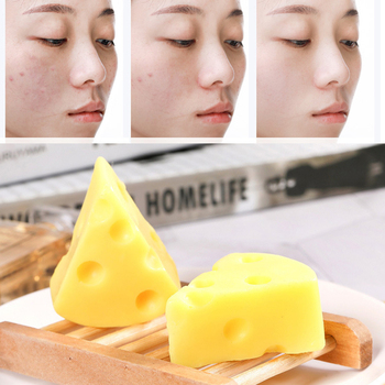 4PC Sea Salt Cheese Soap 100g Removal Pimple Pores Acne Mite Treatment Cleaner Moisturizing Face Body Wash Soap Base Skin Care rose soap 100% natural handmade 120g hair skin beauty whitening moisturizing cleaner antibacterial acne treatment