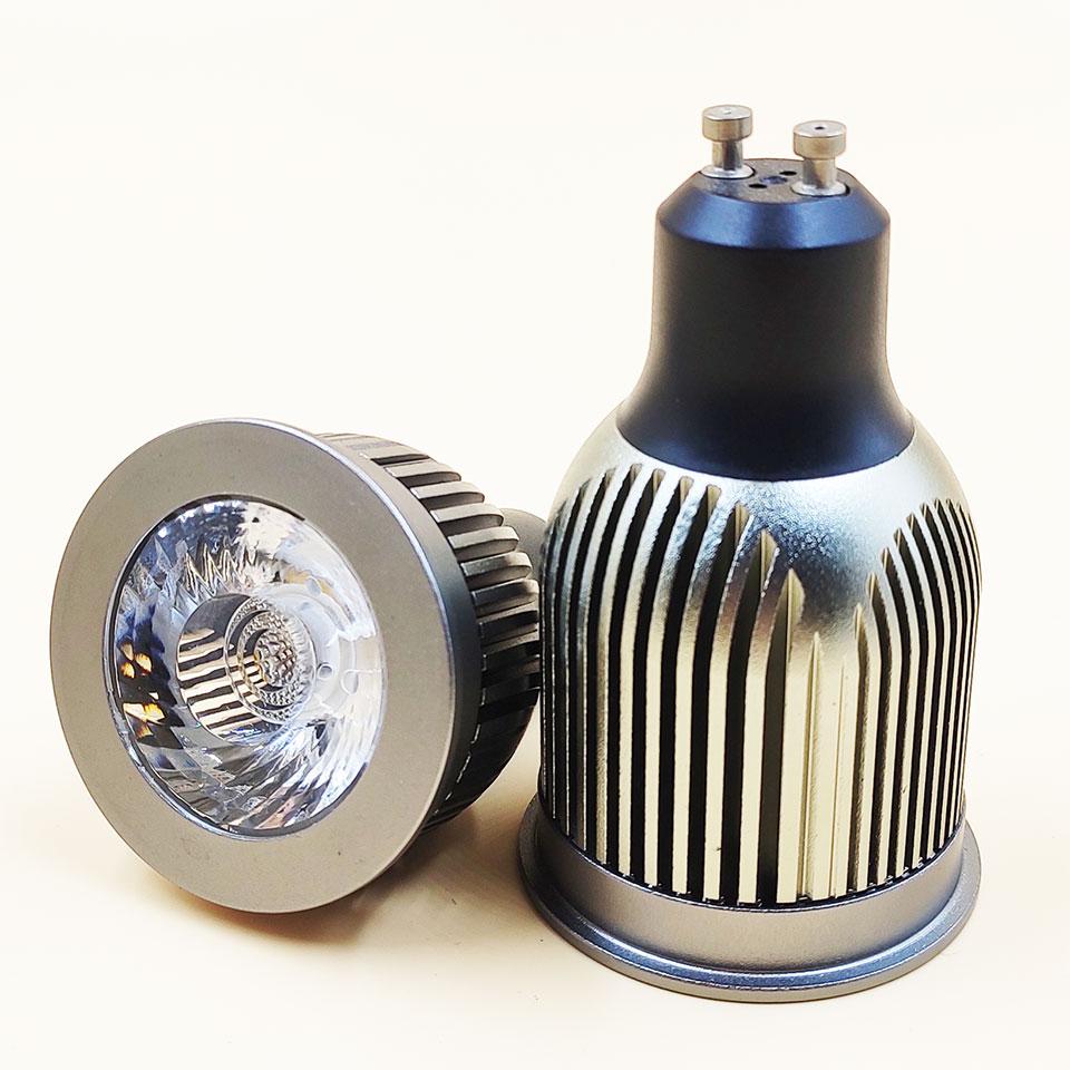 GD 5pcs 15degree Beam GU10 7W 9W 12W 15W Gu10 Bulb AC220V E27 Dimmable LED Spot Light Bulb MR16 12V LED Spot With Pure ALuminum