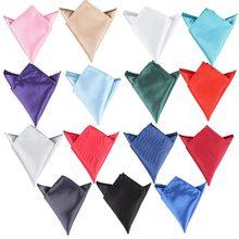 15 цвета мужчины белый носовой платок костюм карман полотенце аксессуары свадьба банкет юбилей реклама черный красный синий